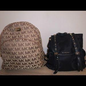 2 Michael Kors backpacks